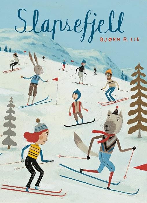 ski illustration by Bjorn Rune Lie