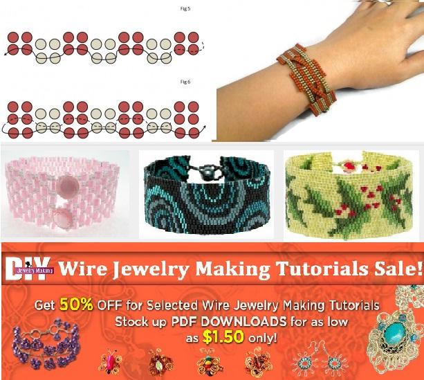 http://handmade-jewelry-club.com/2015/08/weave-2-drop-peyote-stitch-beading-tutorial.html