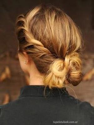 peinados recogidos 2014 trenzas