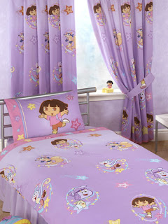 Beautiful Dora Swirl Window Curtains For Kids