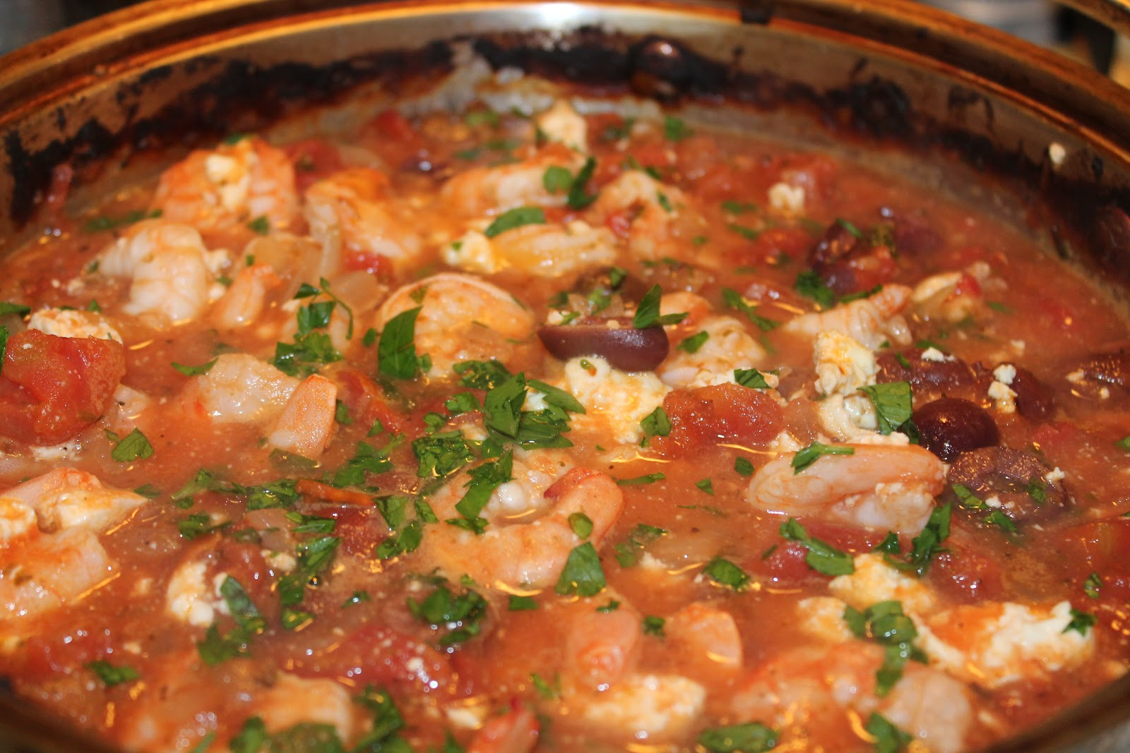Savory Moments: Baked shrimp with tomatoes and feta