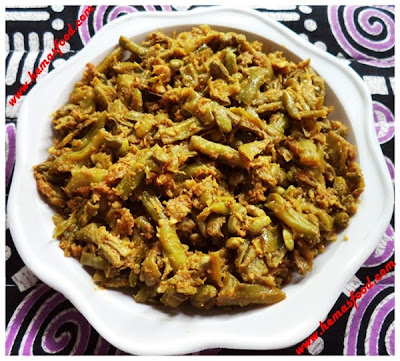 Yardlong Bean Masala Curry - Barbati masala kura