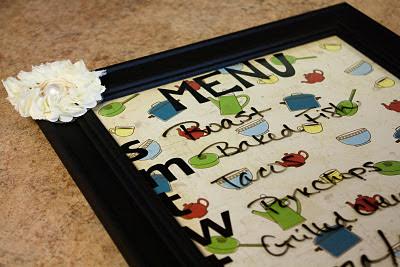 Dry Erase Menu - www.thelifeofawannabesupermom.blogspot.com