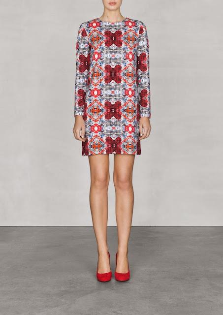 tapestry print dress