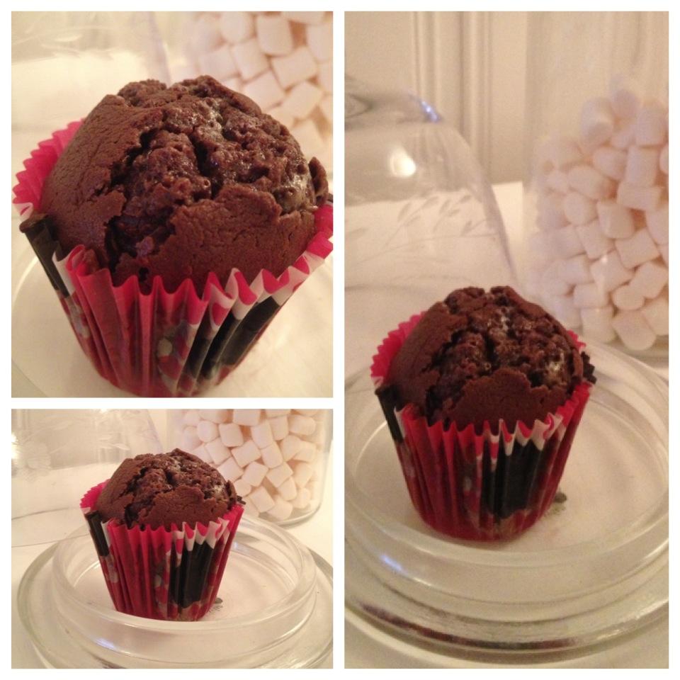 chokladmuffins med blåbär