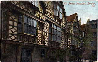 Vintage postcard of St. Peter's Hospital, Bristol