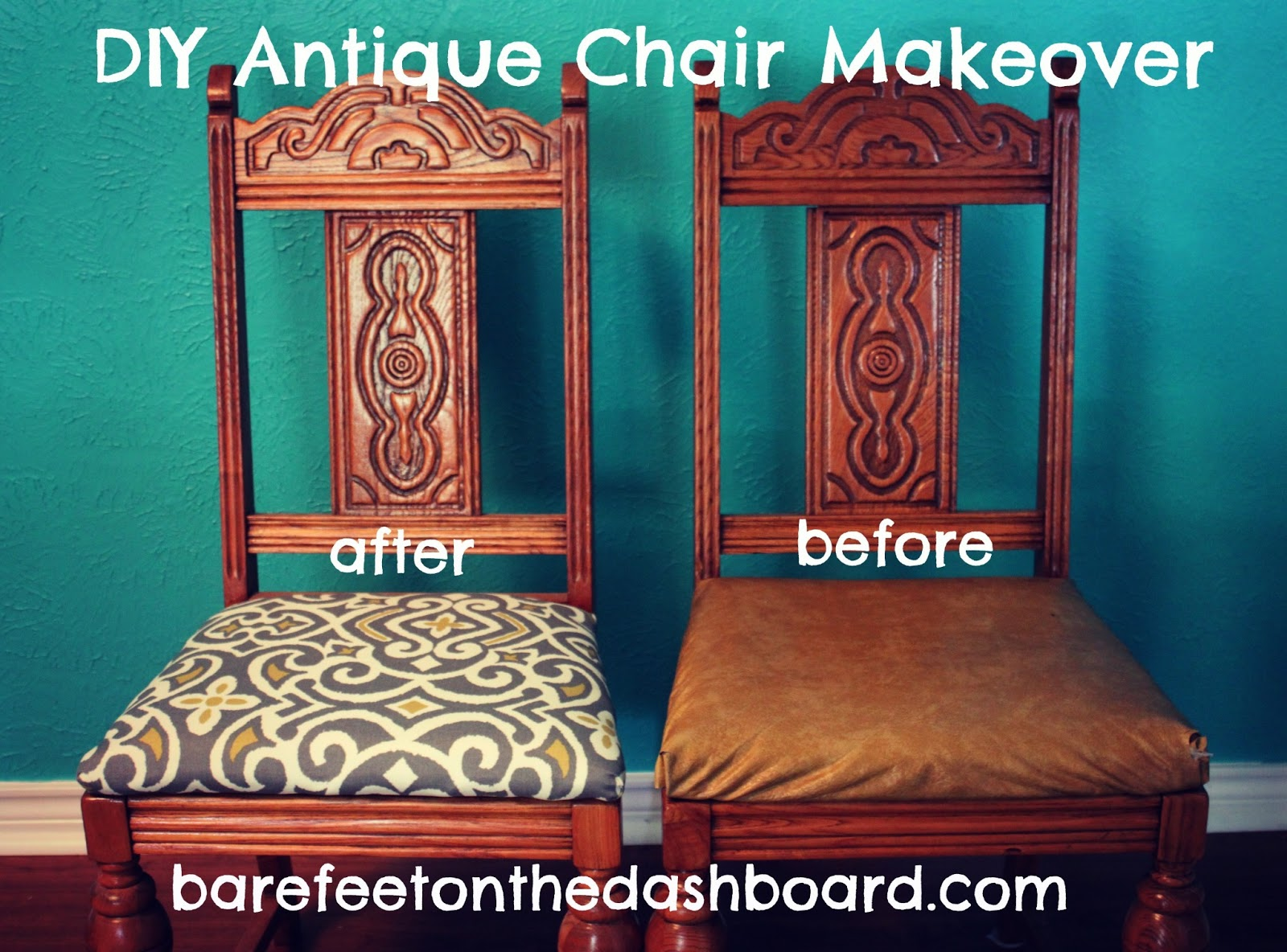 Duck Creek DIY Antique Dining Room Chair Makeover