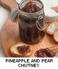 PINEAPPLE AND PEAR CHUTNEY