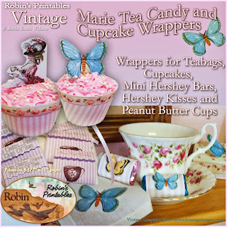 http://robinwillsondesigns.com/product/vintage-marie-tea-candy-cupcake-wrappers/