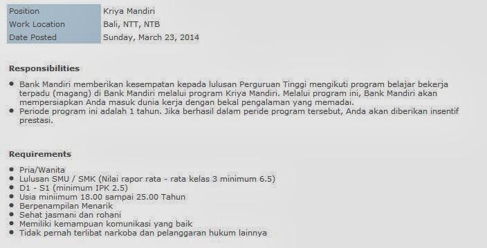 loker-mataram-bank-mandiri-bumn-terbaru-april-2014