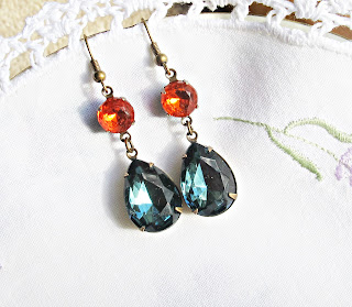 image kiahla earrings vintage glam it up montana blue hyacinth orange two cheeky monkeys