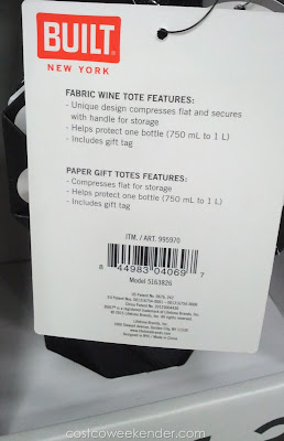 Built New York Origami Wine Totes – Compresses for easy storage