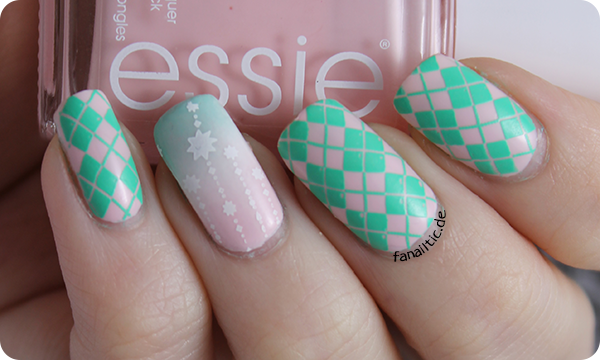 "twinnails essie ""romper room"", moyou london ""cool pool"" & hehe017"