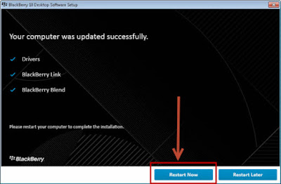 cara instal software blackberry blend ke PC