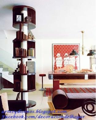 Como aprovechar las columnas de los ambientes decoraci n - Decoracion columnas interiores ...