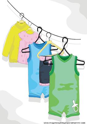 Imagen de ropa de bebe para imprimir