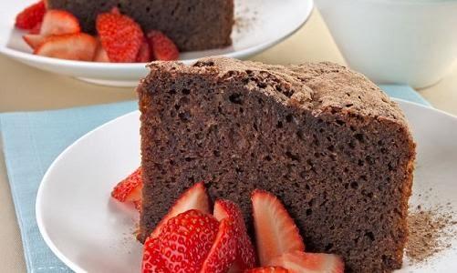 Torta de chocolate sin huevo y sin manteca