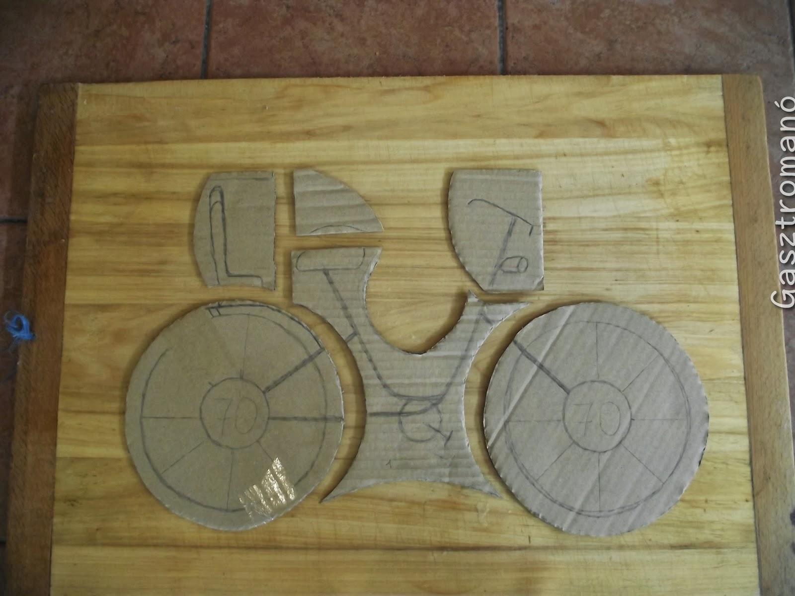 Bicikli torta sablon