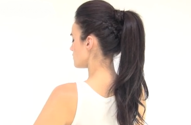 Peinados Con Coleta Paso A Paso - Hair Tutorial  Coleta Con Trenzas * Peinados paso a paso