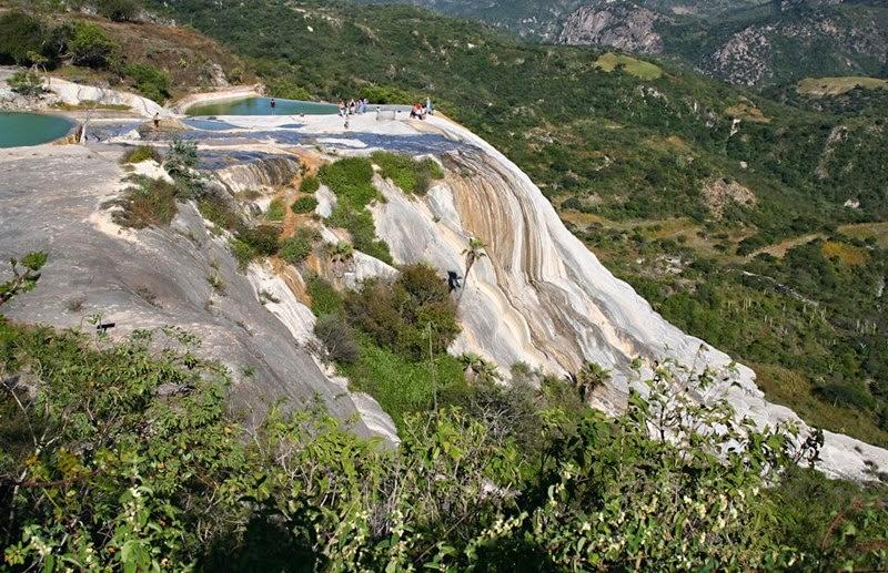 Hierve el Agua, Oaxaca  | Stone waterfall San Lorenzo Albarradas, Mexico