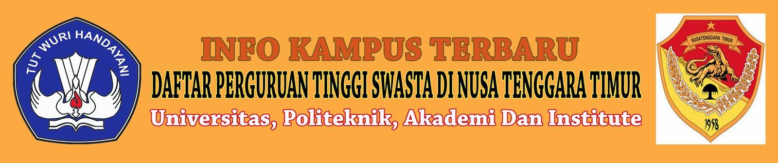 Daftar Perguruan Tinggi Swasta Di Nusa Tenggara Timur