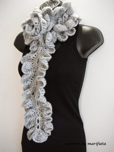 Crochet Patterns Ruffle Scarf : crochet patterns and video tutorials: how to Crochet ruffle rose scarf ...