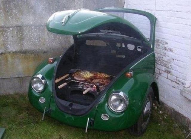 Quando você ama seu carro mas ao mesmo tempo ama churrasco!