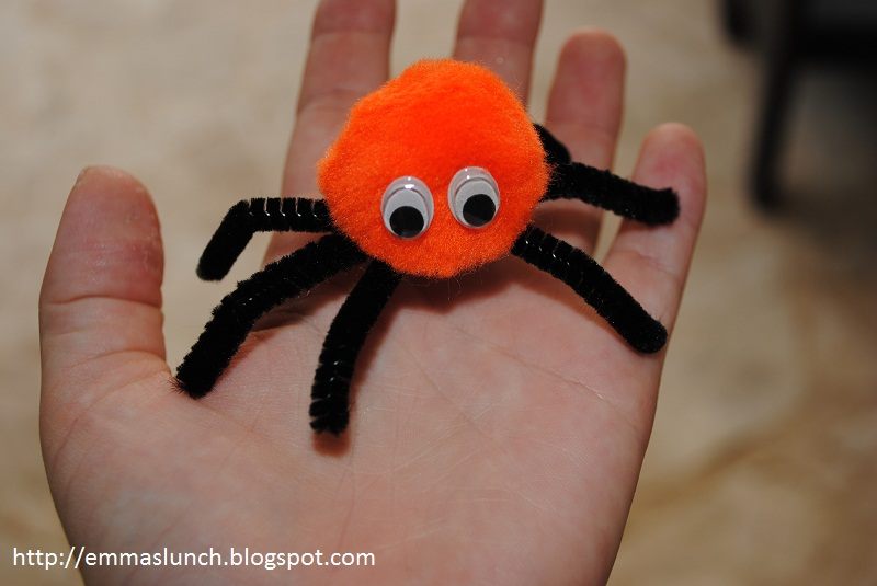Halloween Spider Crafts Pipe Cleaners