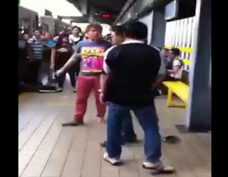 Passengers on fist fight at LRT Carriedo station