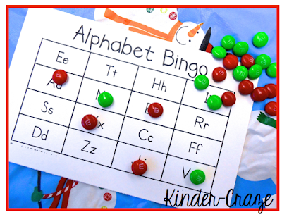 use holiday m&ms as bingo markers at your class Christmas party