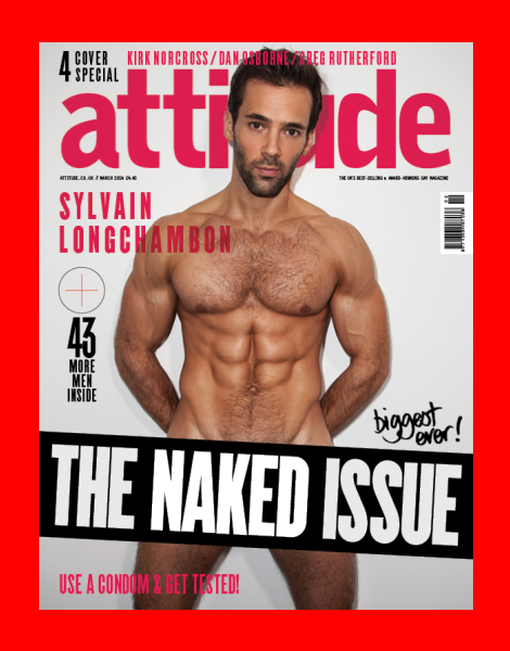 Sylvain Longchambon naked in Attitude Magazine's Naked Issue 2014