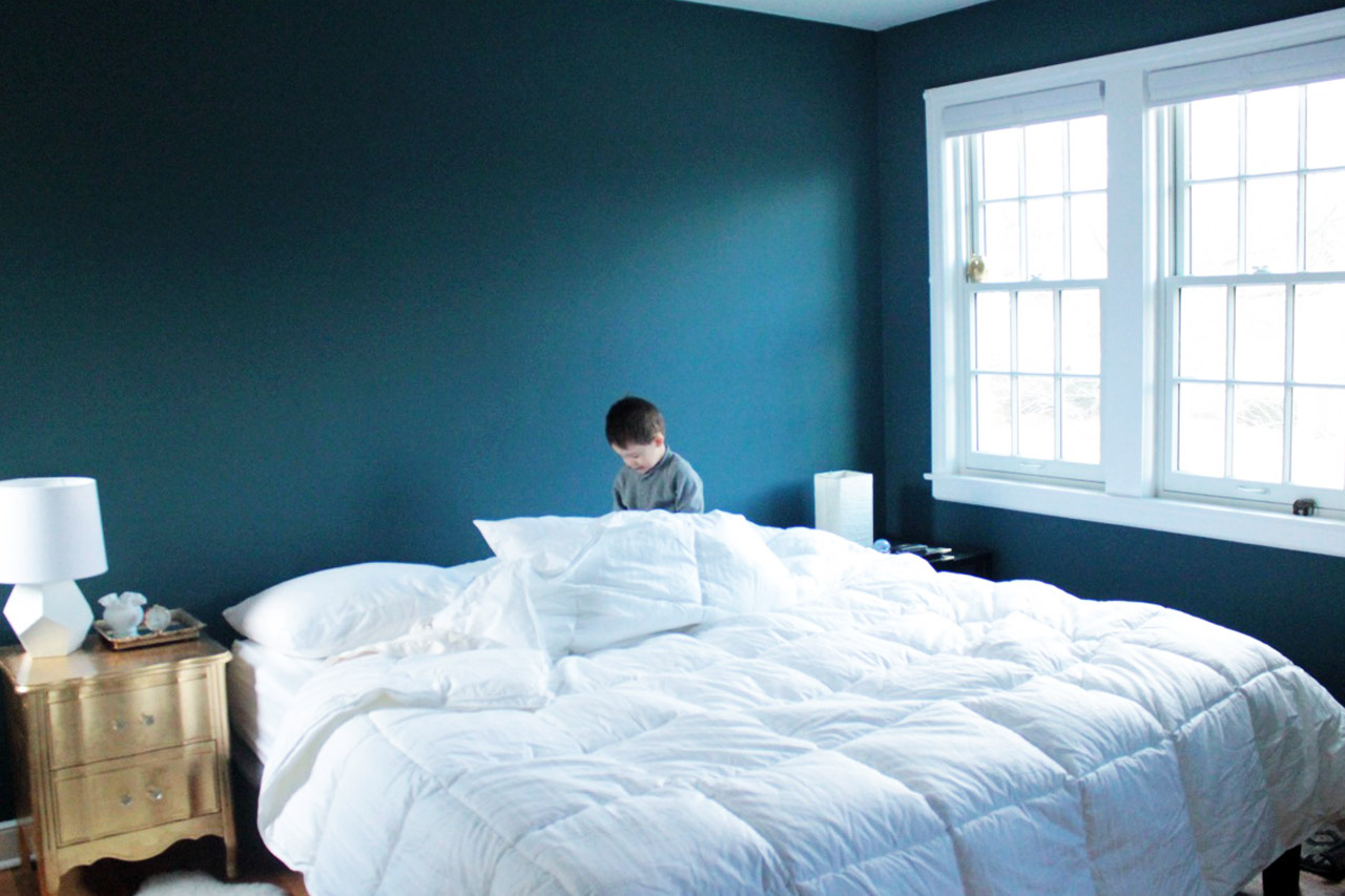 Blue and green bedroom - Love