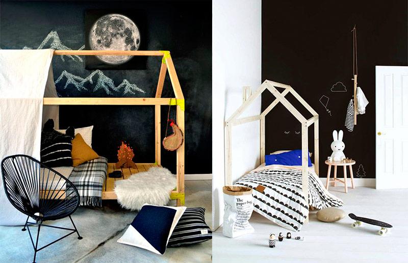 O quarto montessoriano: paredes de lousa
