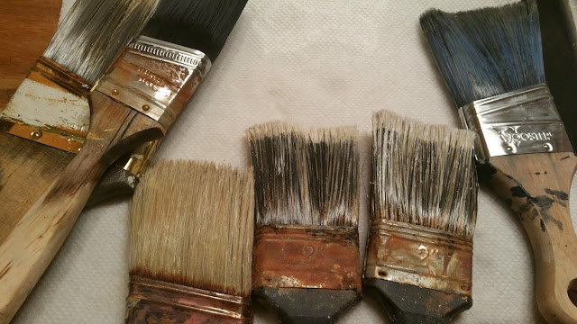 how to clean and soften paint brushes