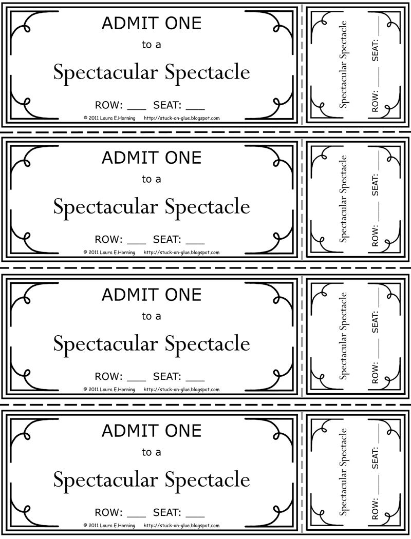 Give Your Octopus a Paintbrush or 8 Printable Theatre Tickets – Theatre Ticket Template