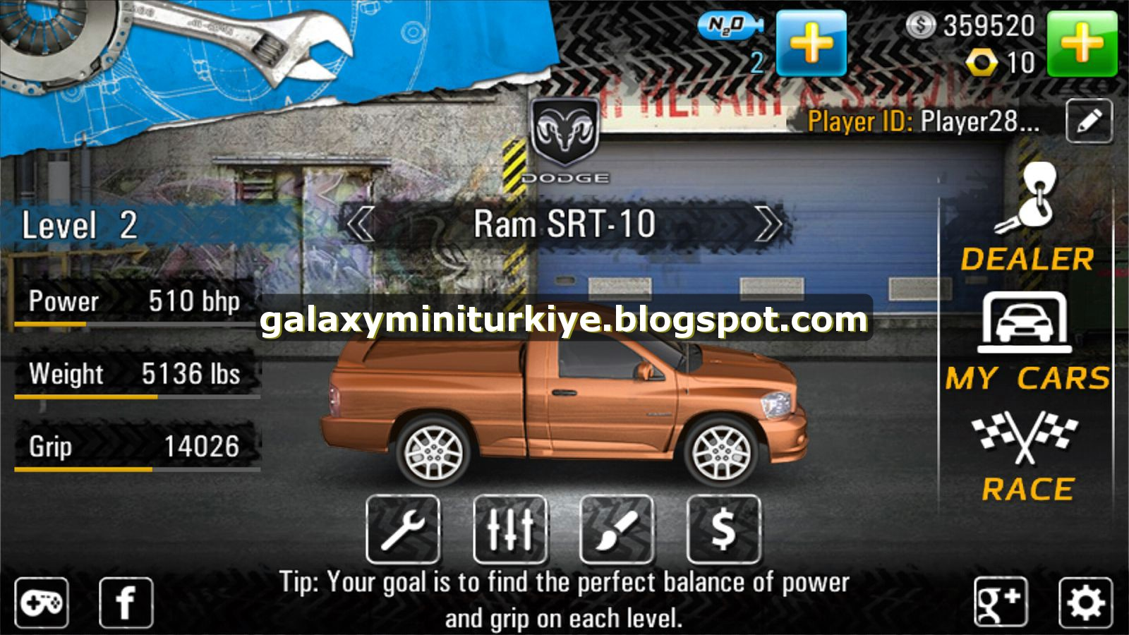 Drag Racing 4x4 MOD APK - Galaxy Mini (QVGA-ARMV6) - PARA HİLELİ
