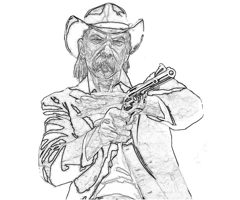red dead redemption coloring pages - photo#6
