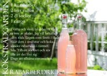 Rabarber - recept