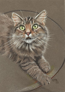 http://www.ebay.com/itm/KMCoriginals-Cat-on-table-green-eyes-long-haired-feline-kitty-original-5x7-art-/310800783987?pt=Art_Drawings&hash=item485d2b9a73
