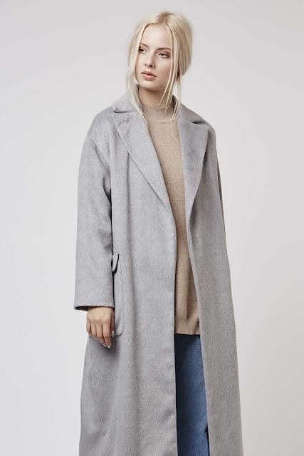 grey maxi coat, long grey coat, light grey long coat, light grey wool coat,