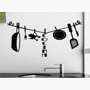Muebles y decoraci n de interiores novedosos sticker para decorar las paredes de la cocina - Adhesivos cocina ...