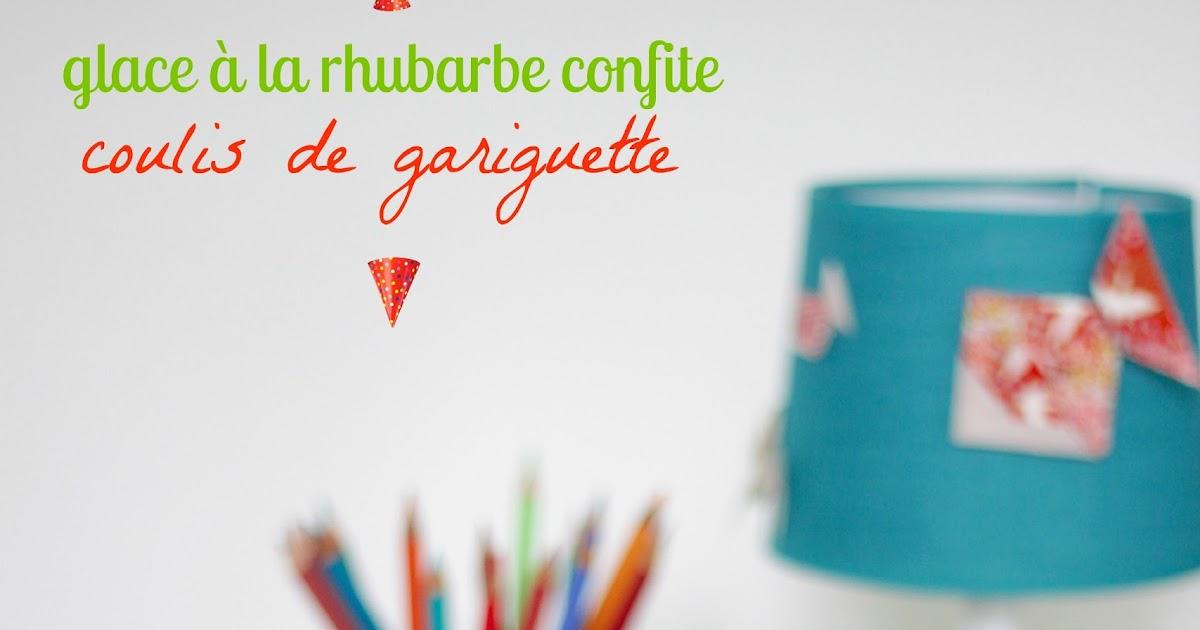 Origami 39 s kitchen glace la rhubarbe confite sans for Glace a la peche sans sorbetiere