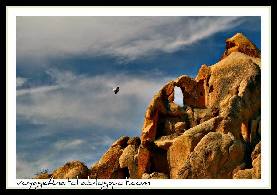 Hot Air Balloon Flight over rock sites of Cappadocia