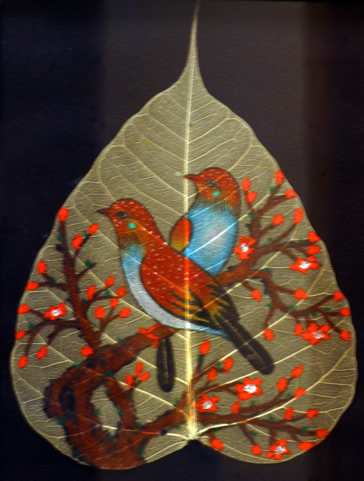Creative Sanju: Leaf Painting