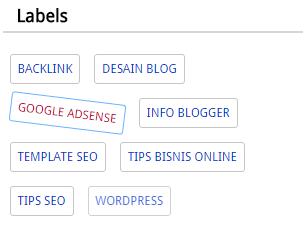 Cara Modifikasi Widget Labels SEO pada Blog