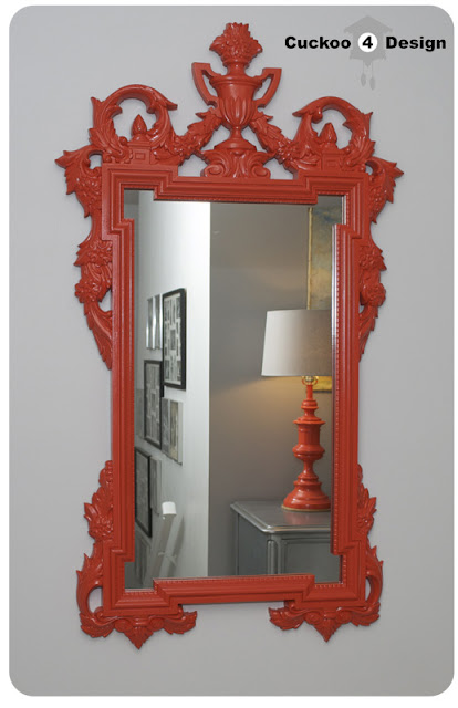 spray painted vanity mirror
