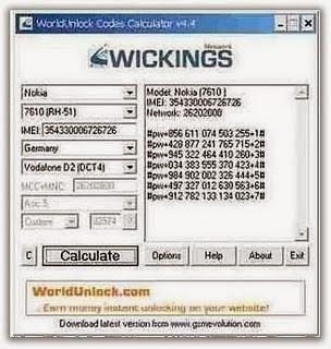world unlock codes calculator: