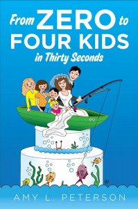 book cover, from zero to four kids in thrity seconds