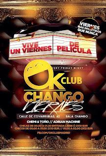LISTAS CHANGO VIERNES 25 DE OCTUBRE