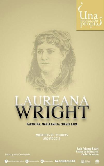 """El ciclo """"Una habitación propia"""" presenta a Laureana Wright en el Palacio de Bellas Artes"""